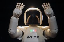 A photo of Asimo the robot, by Holyrood PR in Scotland, a public relations agency