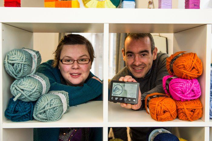 Roddy and Leona pose for Edinburgh PR story