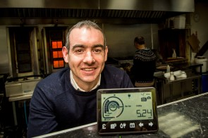 Roddy Hamilton with smart meter