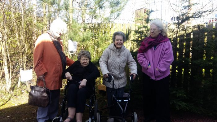 Residents pose for Edinburgh PR story
