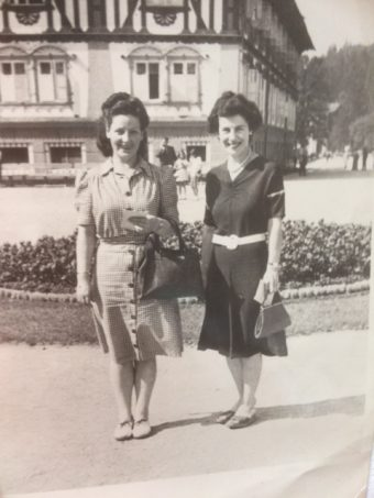 A photo of Ella Macleod and her friend on holiday in Czechoslovakia