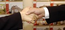 PR photography of a handshake