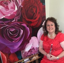 Scottish artist Susie Capaldi, who paints flowers
