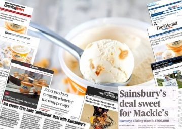 Excellent coverage for Food and Drink PR story