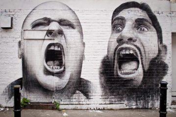 Scream graffiti used by Scottish PR Agency