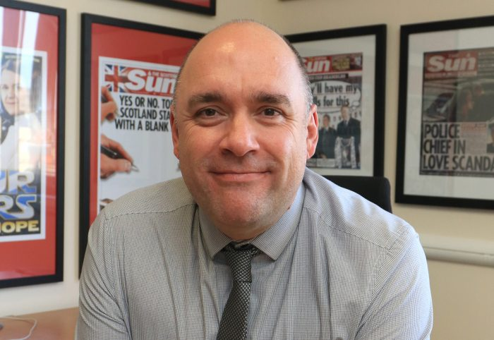 Scottish Sun editor Alan Muir
