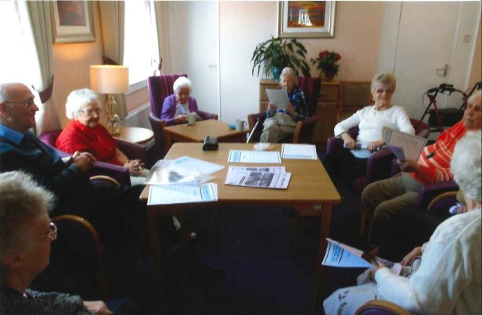 Residents at Bield's Church Court take part in the 'Reminiscence Afternoons'
