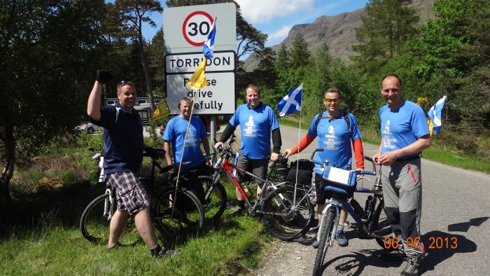 The 'Cyclepaths' are ready to take on the gruelling 220 miles from Aberdeen to Campbelltown