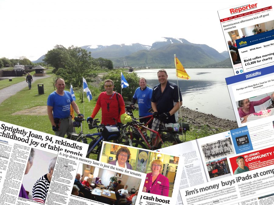 Coverage montage on cyclist image by Scottish PR Agency