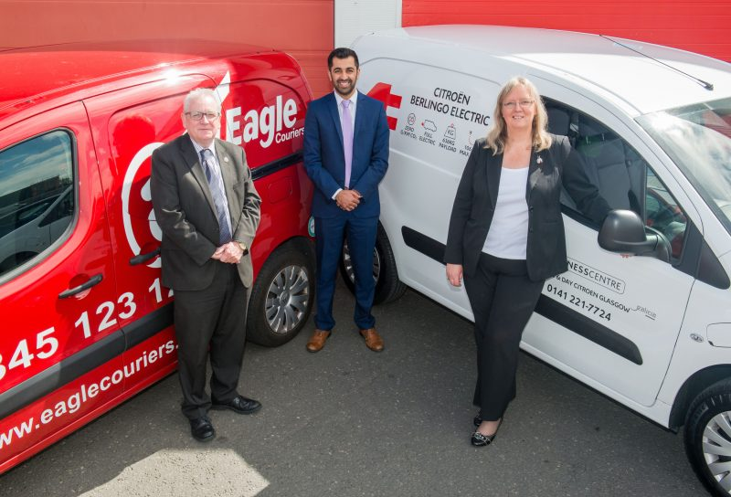 PR Photography captured the visit of the Transport Minister for Scotland to Eagle Couriers