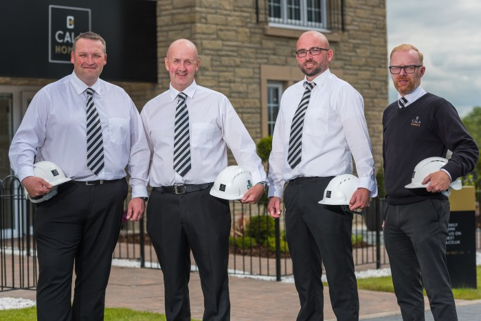 CALA Homes Site Managers pose after scooping pride in the job awards- Scottish PR story