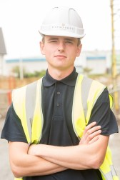 Callum Cunningham one of CALA's Prince's Trust Apprentices posing for PR Photography
