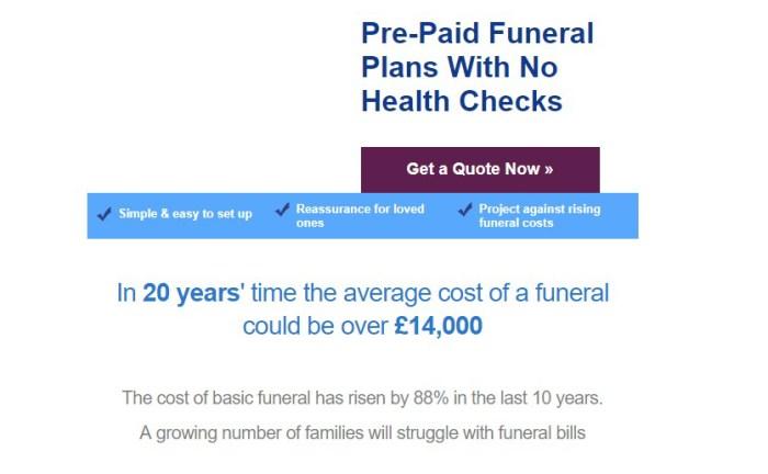 Funeral Scam Email sent to Edinburgh PR agency