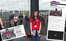 Coverage on Alana Bridge walk as a PR success
