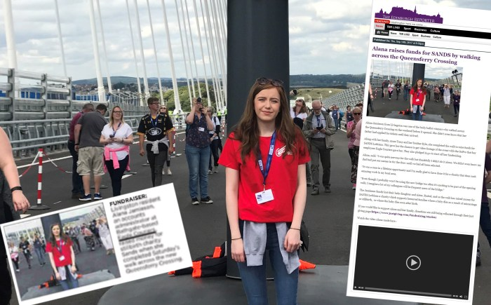 Coverage on Alana Bridge walk as a PR success