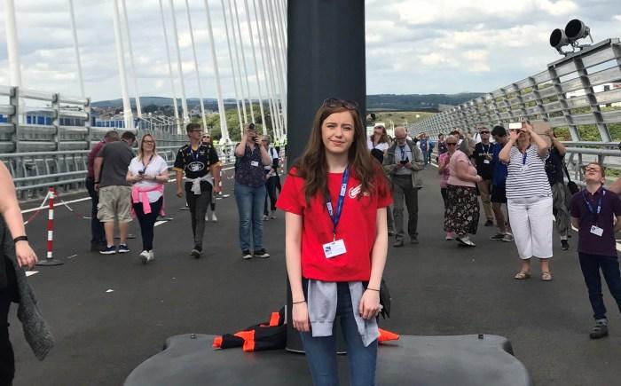 Alana on the bridge to be shared with Edinburgh PR agency