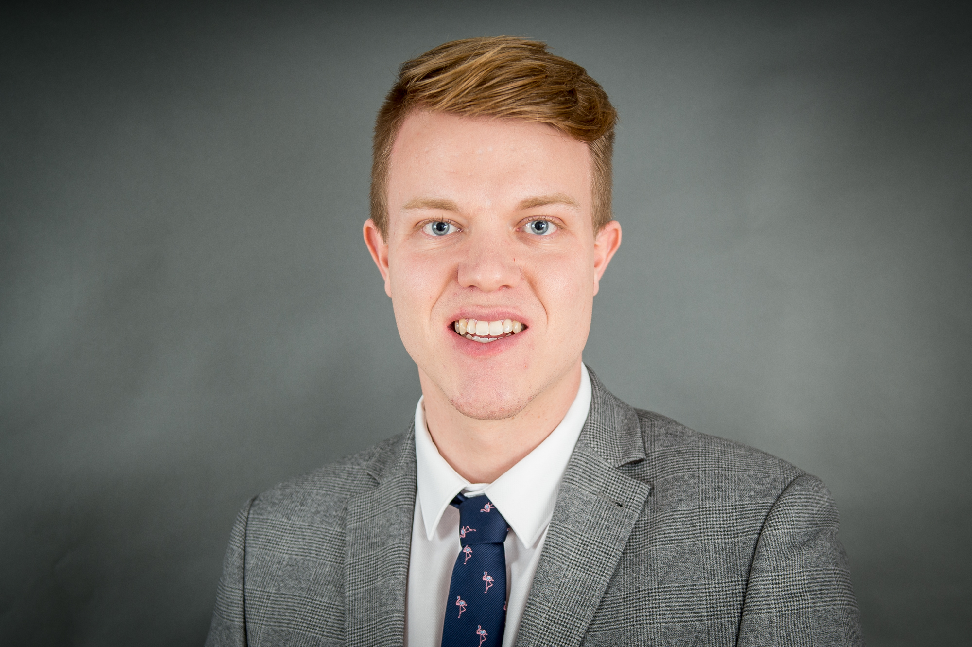 Young PR professional Fraser Clarke, who works with public relations agency, Holyrood PR in Edinburgh, Scotland