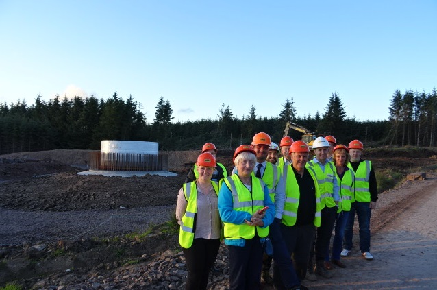 Public Relations Edinburgh team share story of community group visit to wind farm site