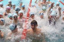 Scottish Water PR photos of swim ambassador Duncan Scott