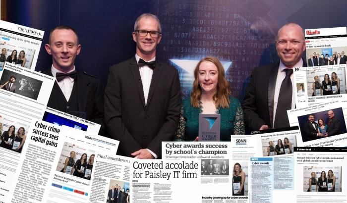 Media coverage of Scottish PR press release from Cyber Awards