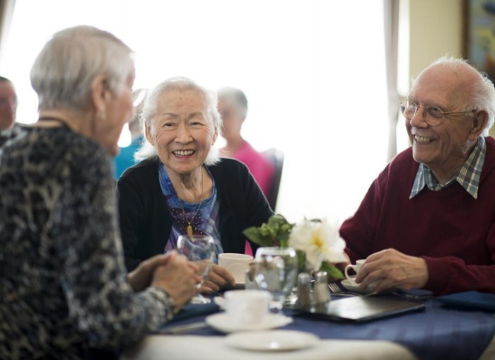 Image of residents enjoying themselves in home to be used by Scottish PR