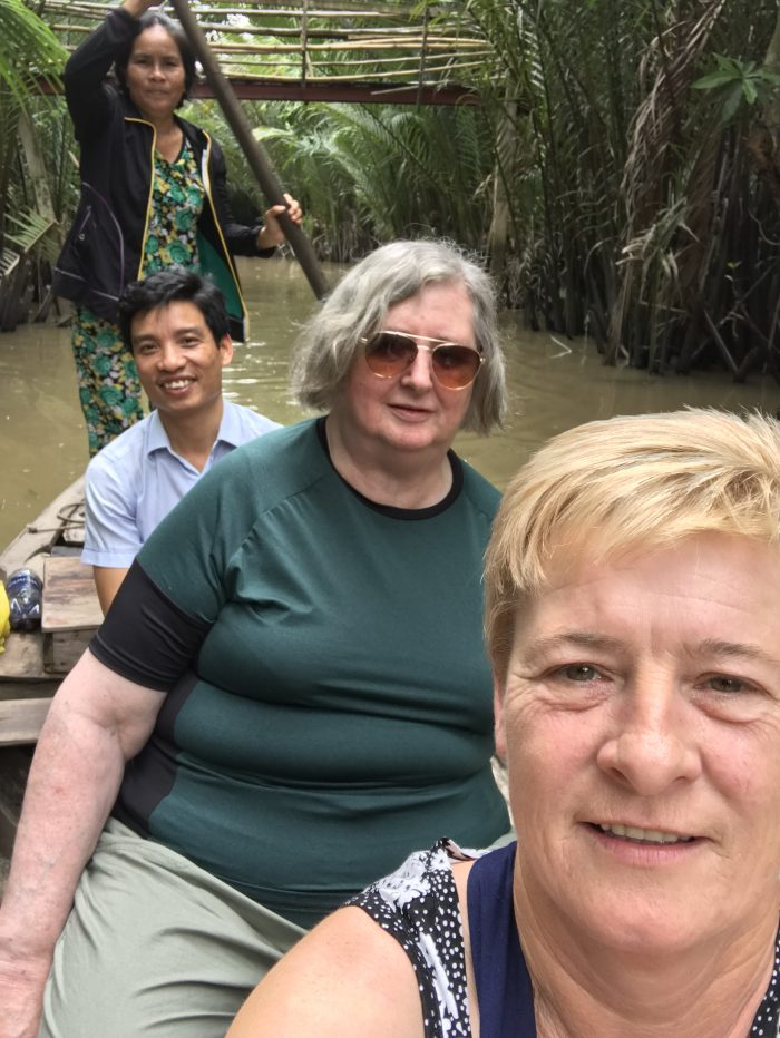 Margaret and Gina in Vietnam to be shared by Edinburgh PR agency