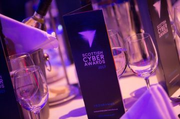 Table setting from Scottish Cyber Awards