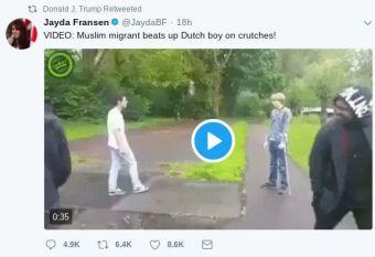 Trump retweeting Britain First