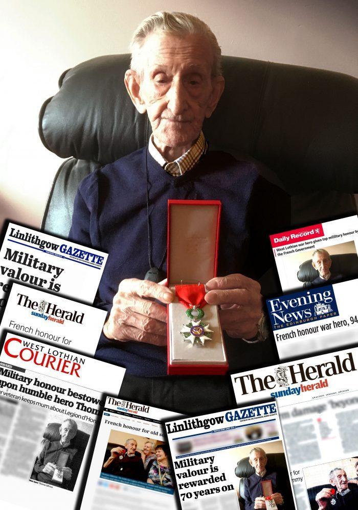 Scottish PR Coverage Success as War Veteran Awarded Honour