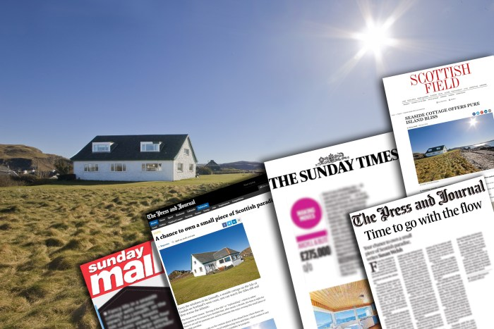 A stunning seaside cottage on the Isle of Easdale seizes Property PR success