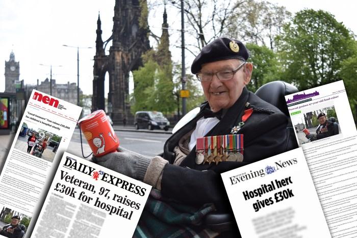 97-year-old Veteran a PR Success Story following a £30,000 fundraiser