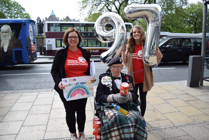Charity PR story celebrates a 97-year-old veteran's £30,000 fundraiser for Children's Hospital