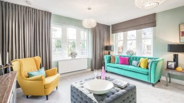 A spacious living room at Kingfisher Park development in Balerno which is a sell out success with help of Property PR