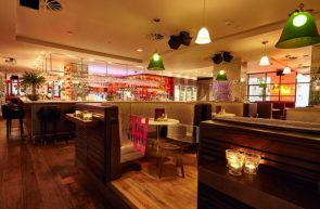 Hotel PR photograph of Tigerlily's luxurious dining experience in Edinburgh