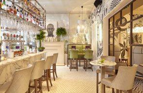 Hotel PR photograph of Tigerlily's luxurious bar area in Edinburgh