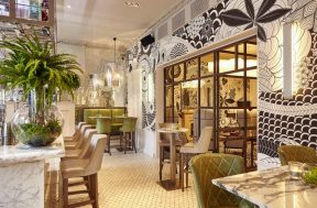 Hotel PR photograph of dazzling bar in Tigerlily, Edinburgh