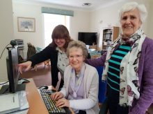 Techie tenants at Bield care homes show their web skills. By Care PR experts Holyrood PR