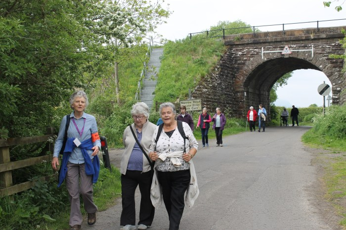Charity PR - Bield tenants on a Health Walk in Stirling in partnership with Paths for All