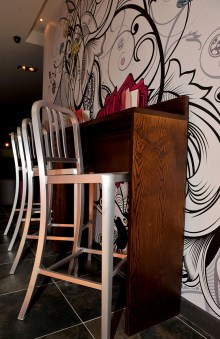 Interior design photos as part of Hyde Out bar and restaurant PR campaign