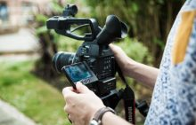 In-house videographer at an Edinburgh PR agency filming PR content