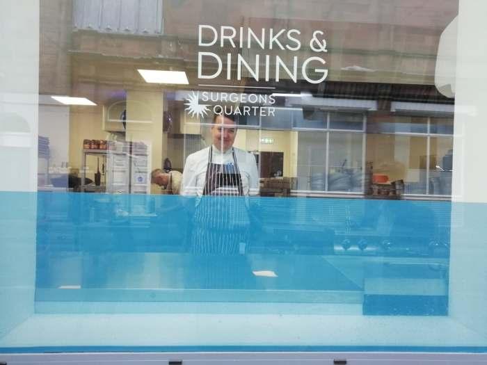 Hotel PR photos of the kitchen at Edinburgh's Ten Hill Place