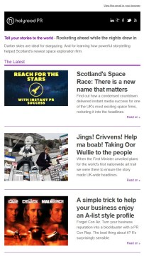 Holyrood PR Newsletter | October 2018