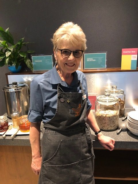 Hotel PR photograph of Lesley Ann Martin - a long serving staff member at Jurys Inn