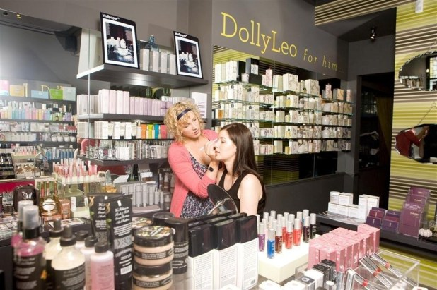 Hair and beauty PR photography for DollyLeo makeup shop