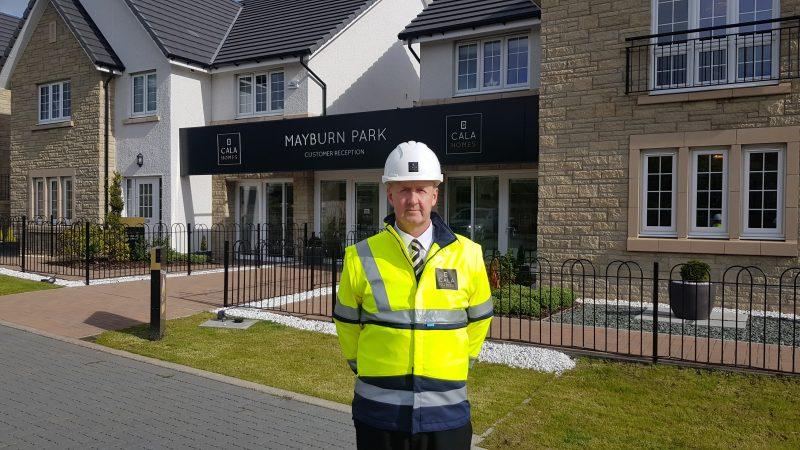 Senior Site Manager Ian Welsh at Mayburn Park, Straiton Property PR