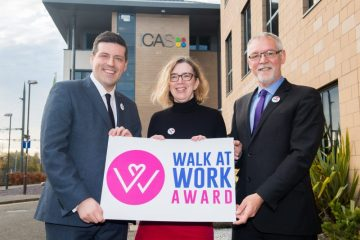 Charity PR photograph of Walk at Work Award Launch