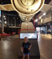 A tech PR photo of Lexi Morgan, young space enthusiast in a photo shared by Holyrood PR on behalf of client Skyrora
