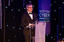 The Scottish Cyber Awards featured a speech by Derek Mackay, Finance Secretary, captured in a tech PR photo by Edinburgh agency, Holyrood PR