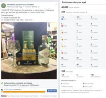 Image of the Facebook competition by The Walled Gardens as part of a Digital PR campaign