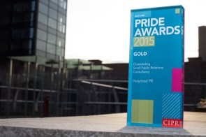 Holyrood PR was named Scotland's Outstanding Small PR Consultancy at the 2015 CIPR Scotland PR awards